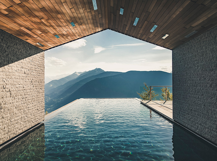 Miramonti, hotel, Hafling, Avelengo, Südtirol, southtyrol, Tyrol, Meran, Merano, bozen, Bolzano, White Line, James Bond, Infinity Pool, Merano 2000, Meran 2000, Sauna, View, pretty, chalets Atemberaubende Luxus Chalets für Winterurlaub in der Natur Miramonti lq MG 1511 HDR Modifica Modifica Modificak