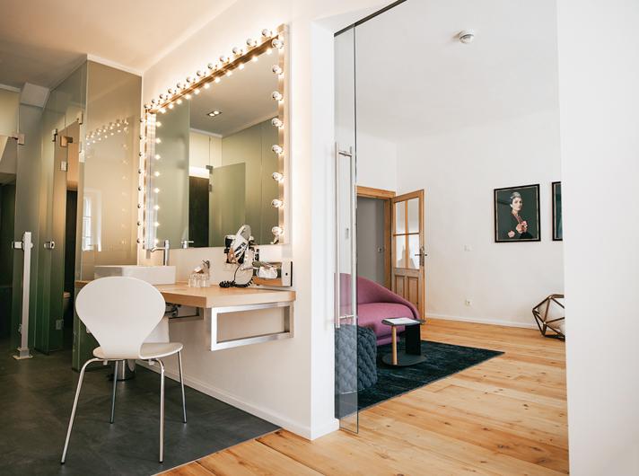 Maisonette Badezimmer arthotel Blaue Gans Salzburg